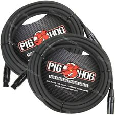 2-Pack Pig Hog 25' Foot Ft Microphone Cable XLR Lifetime 8mm Tour Grade PHM25