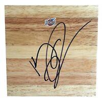 Kenny Thomas Houston Rockets Signed Autograph Basketball Floor Board Proof COA