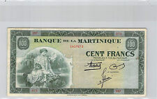 MARTINIQUE 100 FRANCS ND (1942) S57 N° 1417273 PICK 19a RARE