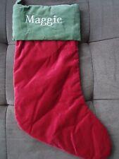 "Pottery Barn Christmas Stocking ""Maggie"""
