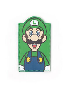 OFFICIAL NINTENDO SUPER MARIO BROS LUIGI FACE GREEN CARD HOLDER