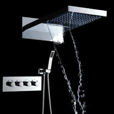 Digital Display Smart Shower Celling Bathroom Thermostat Waterfall Shower Set