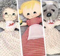 Topsy Turvy Little Red Riding Hood Flip-Doll Plush  3 In 1 Wolf Grandma Toy