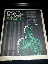 David Bowie Stage Rare Original Promo Poster Ad Framed!