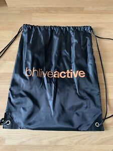 Bhlive Active Black Drawstring Sports PE Swimming Gym Bag New