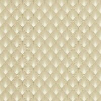 MODERN ART ART DECO DIAMOND FAN WALLPAPER GOLD / WHITE RASCH 433609 - NEW