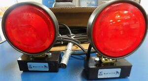 4 PIN Round, BBM Magnetic STT Tow Lights, 37' Total Length 16/4 Cable USA1120