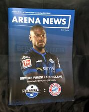 Off. Programm SC Paderborn - FC Bayern München 28.09.19 FCB Top