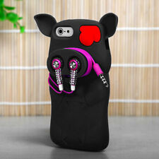 For iPhone 5 5S SE Rubber SILICONE Soft Gel Skin Case Phone Cover Black Pig Nose