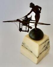 Art Nouveau Sculpture: Maiden holding an Aeroplane!