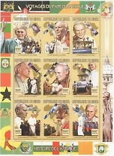 PAPA GIOVANNI PAOLO II visita in Africa REPUBLIQUE DU Niger 1998 MNH STAMP SHEETLET
