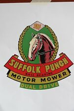 Suffolk Punch Dual Drive Vintage Mower Repro Decal