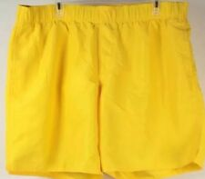 NWT, Men's Free Country Yellow Swim Trunks Mesh Lined Shorts, Size 2XL,  XXL