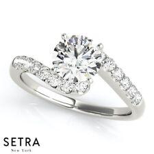 Cluster Sides Diamond Engagement 14K Gold Ring