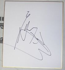 Teruto Ishihara Signed Shikishi Japanese Art Board PSA/DNA COA UFC 196 Autograph