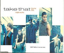 Robbie Williams TAKE THAT w/ LULU Relight My fire w/ 3 RARE LIVE TRX CD single