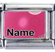 Unique Pink Design Custom Any Name 9mm Italian Photo Charm NEW