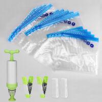 20pcs Hand pump Bags Reusable Vacuum Sealed Bag Food Saver Storage Bags Kit