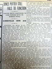 3 1934 newspapers 1st MASTERS GOLF TOURNAMENT Augusta GA is WON by HORTON SMITH