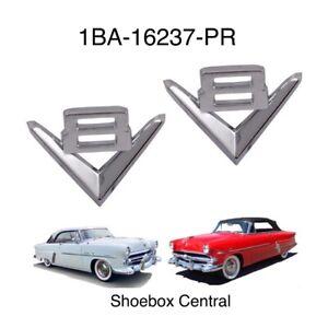 1952 1953  Ford V8 Fender Emblem Badges New
