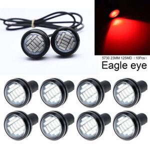 10pcs Red Eagle Eye 12LED Daytime Running DRL Backup Light Car Rock Lamp 23MM US