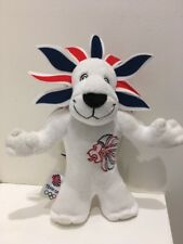 PRIDE THE LION WHITE 2012 OLYMPIC GAMES MASCOT PLUSH TOY TEAM GB 23CM FREE POST