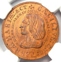 1860 PA Lord Baltimore Denarium Idler Coin - Certified NGC MS66 RB (Gem BU)