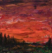Modern Original Abstract Painting Firey Orange Heavy Impasto Gallery Art Anya