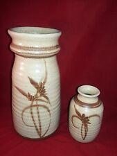 Studio Pottery Vases - Kalapuya Pottery Signed Stoneware Vases