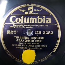 78rpm ARNOLD FOSTER FOLK DANCE ORCH twin sisters / pipers fancy