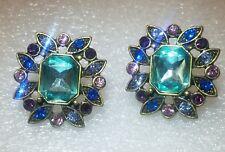 Fashion Earrings Pierced Ears - Multi Color Rhinestones
