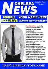 A5 Personalised Chelsea Football Manager Card PIDH1 Greeting Birthday