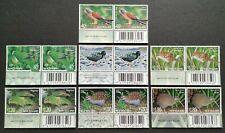 2000 New Zealand Threatened Birds Kiwi Weka Kakapo Parakeet 14v Stamps (barcode)