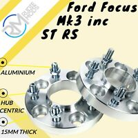 Ford Focus Mk3 inc ST RS 5x108 15mm Hubcentric wheel spacers 1 pair