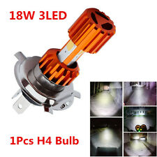Waterproof H4 18W COB 3LED Motorcycle ATV Headlight Bulbs Hi/Lo Lamp Fog Lights