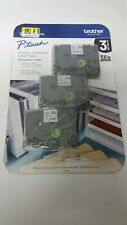 3 Pack of Brother P-touch Laminated Label Tapes TZE12313PK