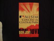 Bon Jovi MLB All Star Concert Central Park Rock Singer Black T Shirt L