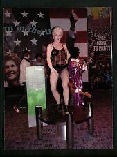 New York NY postcard Real Photo RPPC modern New York City Madonna Wax figure
