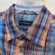 JHANE BARNES Men's Sunshine Stripes Long Sleeve Button Up Shirt L $140  *