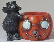Yankee Candle Halloween Teal Light T/L Holder STEAM PUMPKIN RAVEN new #1566076