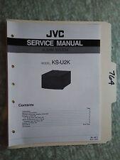 JVC ks-u2k service manual original repair book car alarm system