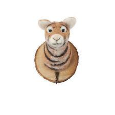 Felt Trophy Tiger Head Coat Hook Hanger on wood, novelty animal gift Felt012