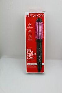 """Revlon Pro 1"""" Heated Silicone Bristle Black Curl Brush w/ 6Ft. Cord New In Box"""
