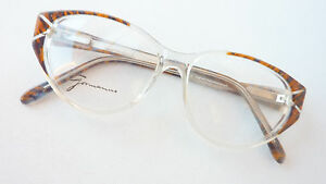 Damenbrille mittelgroß Kunststoff transparent braun stabil gleitsichtfähig Gr. M