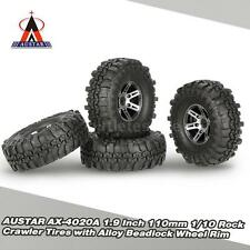 4Pcs AUSTAR AX-4020A 1.9 Inch 110mm 1/10 Rock Crawler Tires Wheel Rim Super N5M9