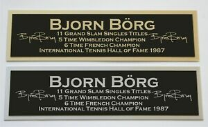 Bjorn Borg nameplate for signed autographed tennis ball photo racket or case