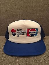 New Vintage Pepsi '85 Canada Games Trucker Style Mesh Snap Back Hat Retro 1980's