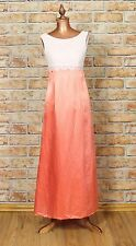 Vintage Dress Gown 70s Retro Victorian Style Evening Wedding Party Boho UK 6