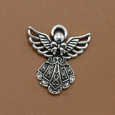 10pcs Antique Silver Wing Angel Charms Beads Pendants for Jewelry Making DIY