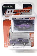 1:64 Greenlight Plymouth HEMI Cuda 1971 PURPLE NEW A Premium MODELCARS